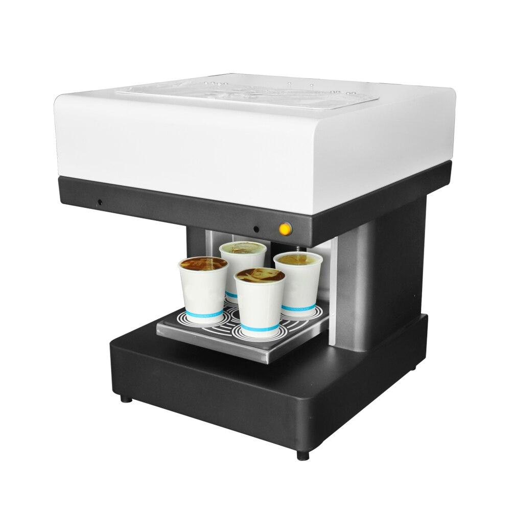 Caffè FAI DA TE Stampante 4 coppe Automatico di Arte Stampante di Caffè Latte Macchina da Stampa Per La Torta Al Cioccolato Biscotti Da Dessert Tè Al Latte