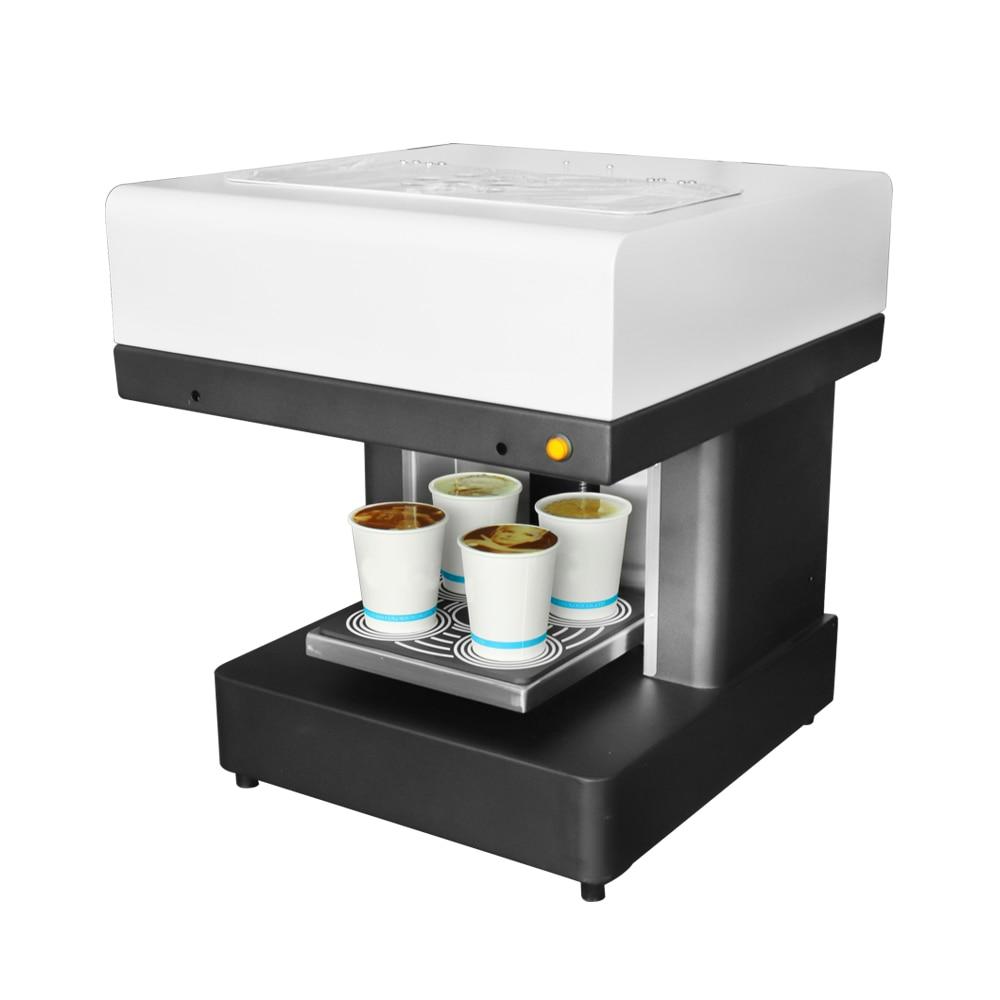 DIY Café Imprimante 4 tasses Automatique Art Café Imprimante Latte Machine D'impression Pour Gâteau Au Chocolat Dessert Biscuits Lait Thé