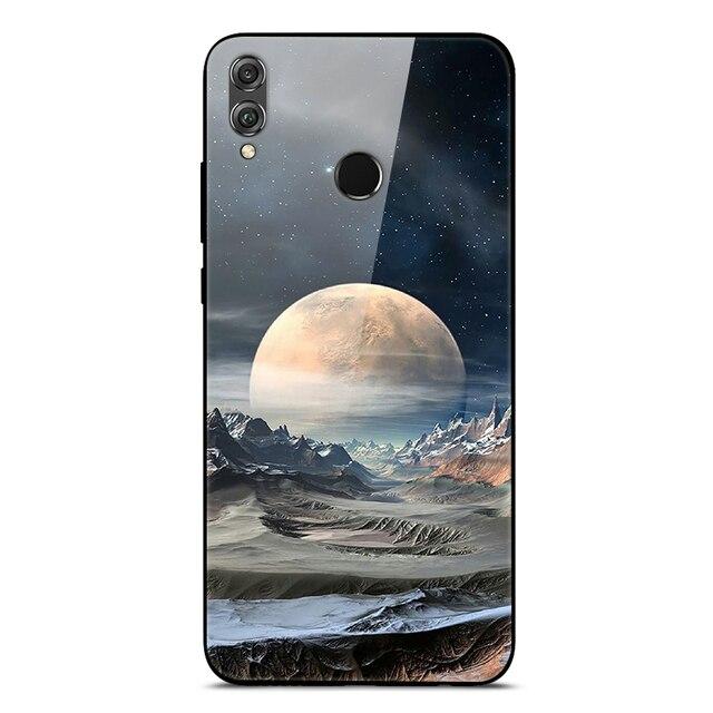 Pour Huawei Honor 8X étui en verre trempé couverture arrière rigide pour Huawei Honor 8s étui Honor 8c 8 C On pour Honor8s Honor 8S étuis 8 X