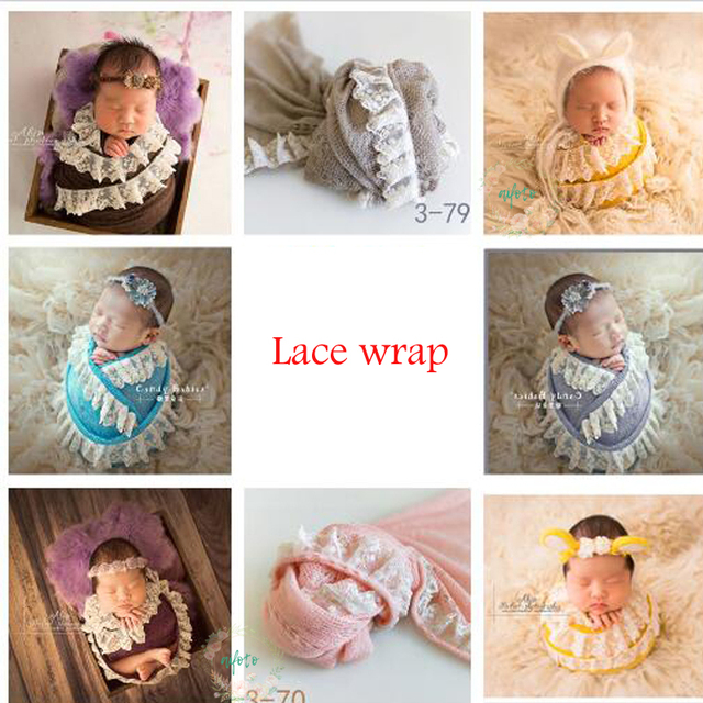 ba90190939f Newborn photography props Baby Lace Wraps Baby Girl Photo Prop Stretch Lace Wrap  for Newborn Photo Shoot Baby Vintage Props