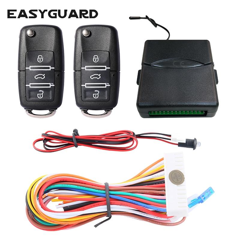 EASYGUARD Универсальный бесключевая система входа комплект со светодиодное освещение для прицепа центральный дверной замок 433,92 МГц