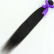 straight human brazilian virgin remy unprocessed hair 1 pcs 1B color weft hair weave extensions