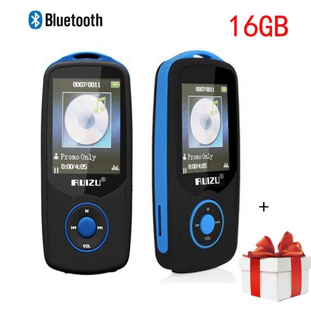 Min Bluetooth reproductor de mp3 16 GB Deporte RUIZU X06 1.8 Pantalla 100 H Digital MP3 Reproductor de Música de ALTA FIDELIDAD Reproductor de Vídeo Radio FM Estéreo walkman