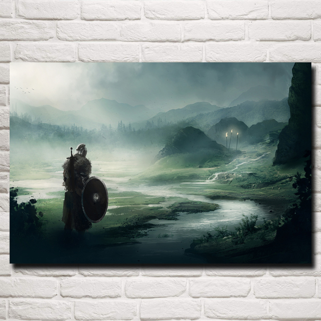 Dark Souls Artwork Video Games Art Silk Fabric Poster Print Home Wall Decor Painting 12×18 16X24 20×30 24×36 Inch Free Shipping