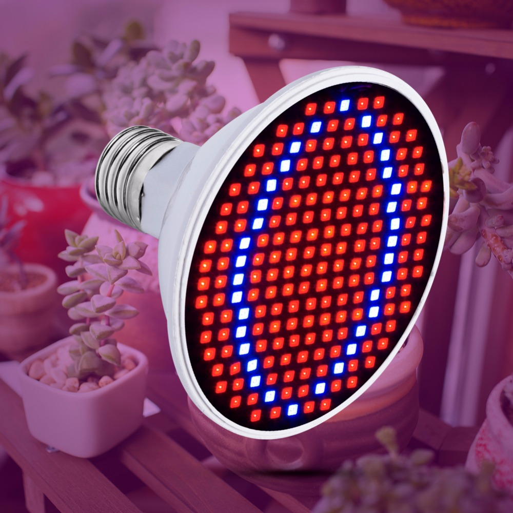 AC85-265V LED Grow Light For Plants E27 Lamp 220V Full Spectrum Bulb 20W 15W 6W Indoor Grow Tent Box Seedling 110V Bombillas B22