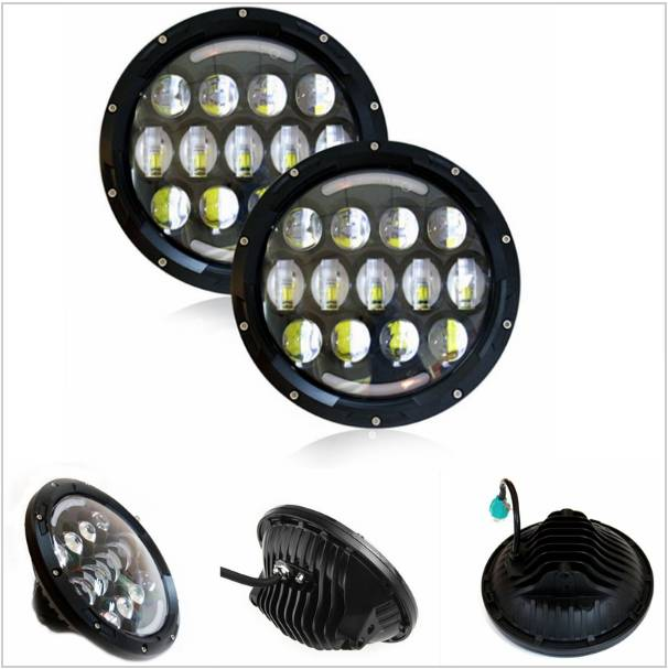 ФОТО Promotion ! 1pair 78w 7 Inch Round Led Headlight with DRL Hi/lo Beam for Jeep Wrangler Jk Harley Davidson with H4 Plug H4-h13