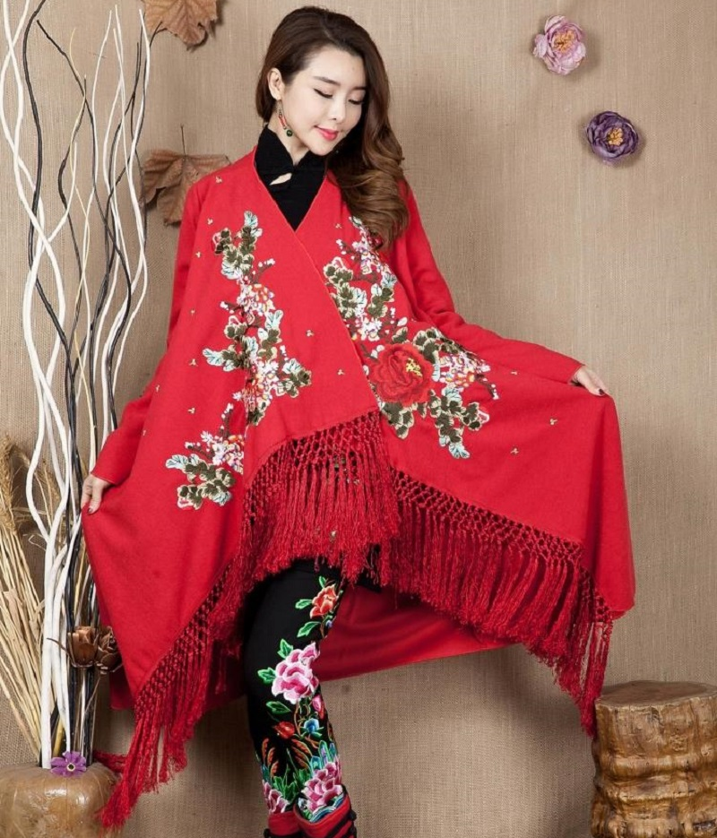 The Winter spring and autumn new folk style heavy embroidery font b sweater b font ladies