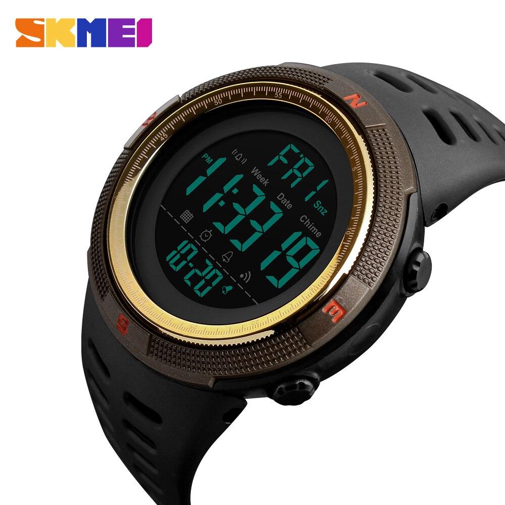 Neue SKMEI Uhr Männer Uhr Mode Lässig LED Digitale Wasserdichte Sport Uhr Männer Multifunktions Student Uhren Handgelenk 2018