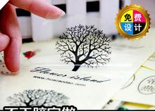 35MM   Clear Transparent  Round /Square Personalized Waterproof  Stickers Label