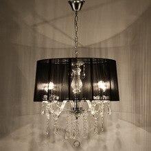 Европейский стиль гостиная ткань Хрустальная люстра роскошная атмосфера спальня кабинет ресторан люстра