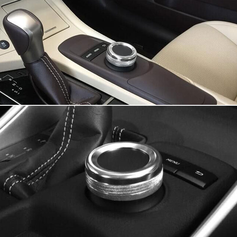 Auto GPS Button Decoration Cover Trim Ring Sticker Fit For Lexus CT200h 12-15 RX270 ES250 350 Car-Styling Interior Accessories