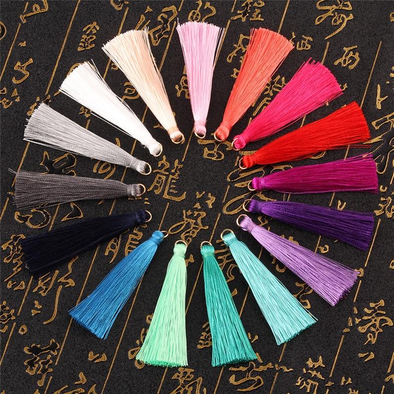 500 pieces Metal Ring Tassels Polyester DIY Tassel 7cm Tassels for Jewelry Earing Handmade Accesorries 20