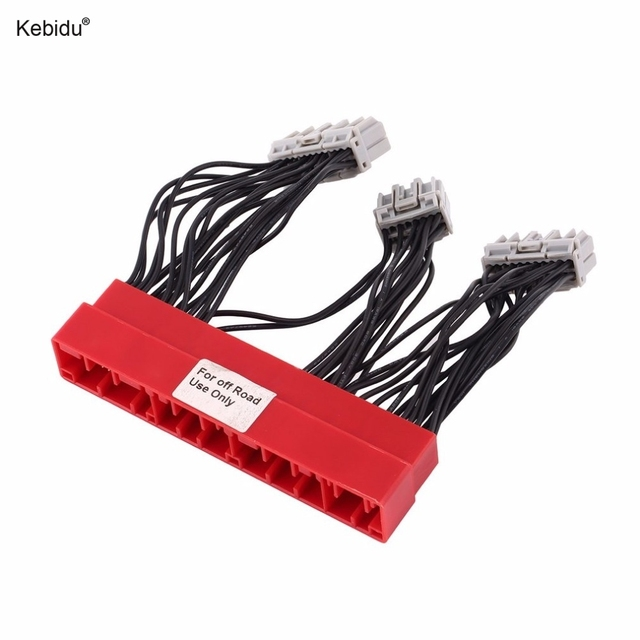 kebidu obd2a to obd1 harness car vehicle replace ecu jumper wire rh aliexpress com h22 obd1 wiring harness vr6 obd1 wiring harness