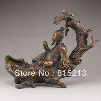 Wang 000164 Chinês Bronze Statue-Velho