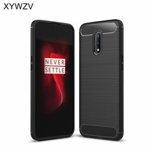 For Oneplus 7 Case Shockproof Armor Protective Soft Silicone Rubber Phone Back Cover Fundas