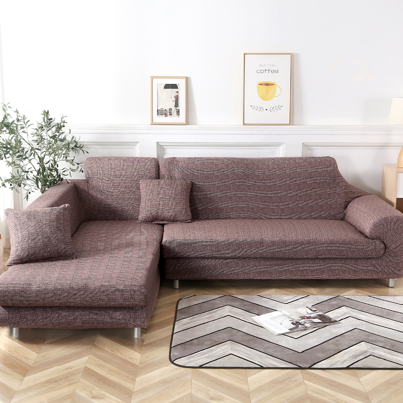 L shape sofa covers spandex sectional sofa corner couch cover slipcovers  elastic for living room 1/2/3/4 seat sofa chair cover