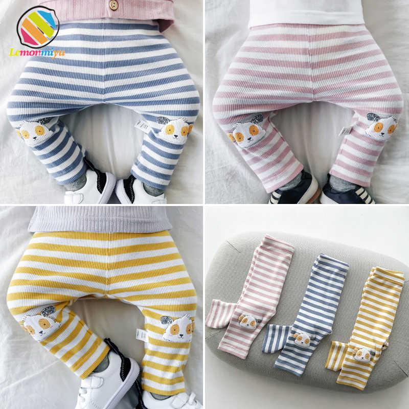 3a39715071fed6 Lemonmiyu Baby Boy Trousers For Newborns Striped Cartoon Spring Autumn Warm Baby  Leggings Harem Casual Toddler