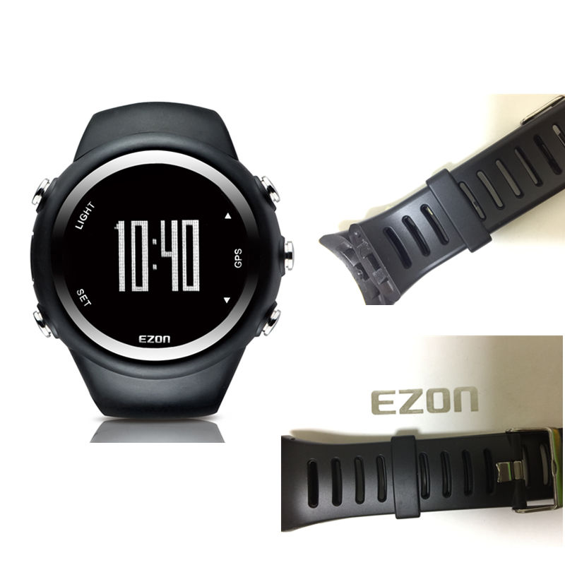 EZON GPS Running  Calorie Counter Professional Fitness Sport Watch  50M Waterproof  Watches For Men  With One Strap As Gift ezon outdoor sports for smart gps watches running male multifunctional 5atm waterproof electronic watch g1 black