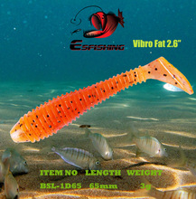 Esfishing Soft Bait Carp Fishing Tackles 6pcs 6.5cm/3g Shad Vibro Fat Fishing Lure Leurre Souple Shad Silicone Bait