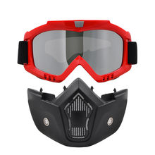 3ef674e4b7 2017 Motorcycle Face Mask Dust Mask Motocross Goggles Mouth Filter For Cafe  Racer Modular Open Face