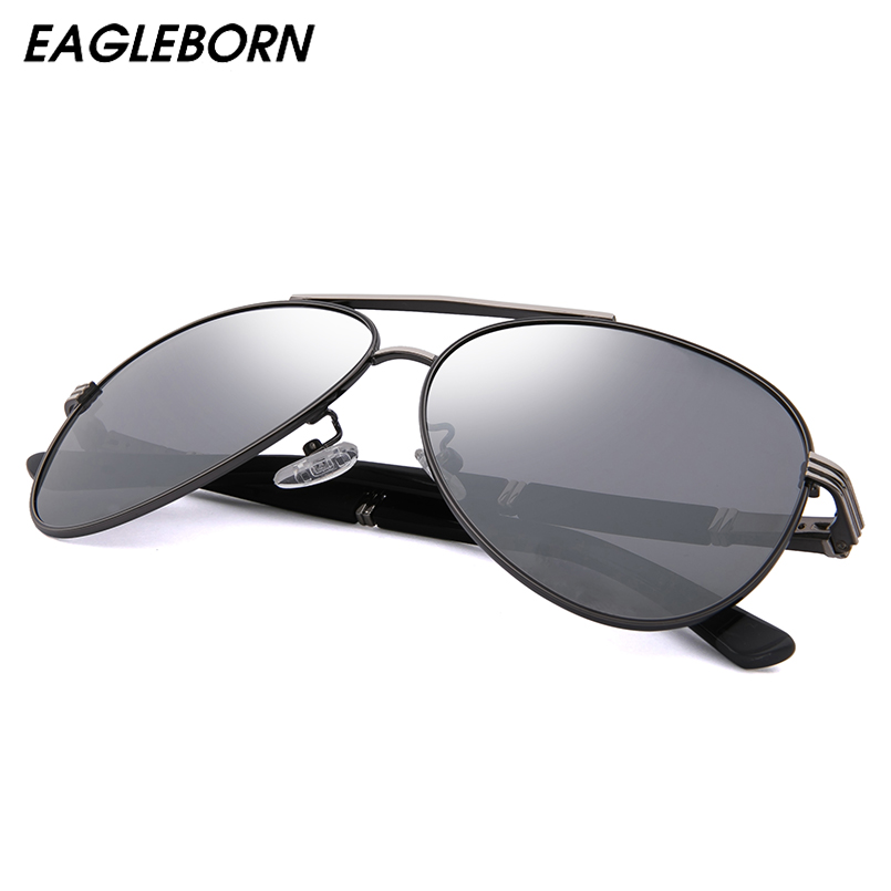 EAGLEBORN Men Vintage Aluminum Polarized Sunglasses Classic Brand Sun glasses Lens Driving Shades For Men/Wome|Men's Sunglasses| |  - title=