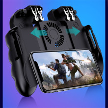 Мобильный контроллер геймпад кулер вентилятор для iOS Android для samsung 6 пальцев управление джойстик кулер умный мобильный телефон радиатор