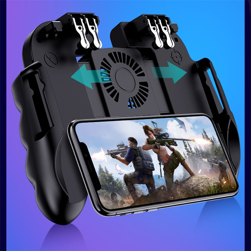 Mobile Controller Gamepad Cooler Fan For iOS Android For Samsung 6 Fingers Operation Joystick Cooler Smart Mobile Phone Radiator|Mobile Phone Coolers|Cellphones & Telecommunications - title=