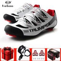Tiebao ciclismo sapatos de estrada adicionar pedal conjunto triathlon profissional da bicicleta dos homens respirável esportes ao ar livre tênis zapatillas|Sapatos de ciclismo| |  -