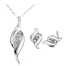100% Silver 925 AAA Jewellery Units for Ladies Magnificence Kiss Strong Silver Free Transport SS203