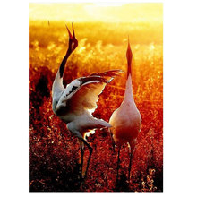 WEEN Crane Oil Paint Painting By Numbers Diy Picture Drawing Coloring On Canvas Hand Wall Number Animal