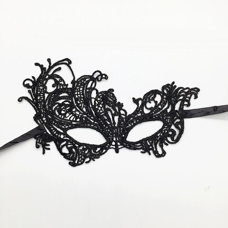 Черная Сексуальная кружевная Маскарадная маска для карнавала, Хэллоуина, маскарада на половину лица, маски для вечеринки, праздничные принадлежности для вечеринки#30