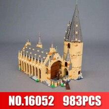 Lepin 16052 Hogwarts Harry Potter Filme O Legoingly Grande Muralha Conjunto Modelo de Casa de Blocos de Construção Crianças Brinquedos dos Presentes Do Natal