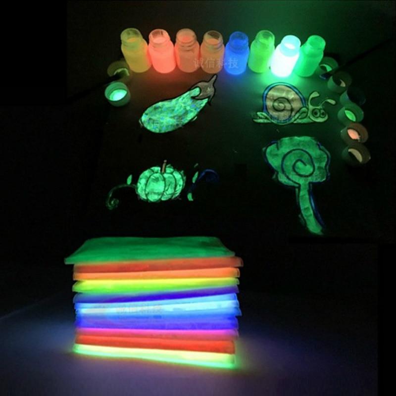 100g luminous powder fluorescent pigment DIY decorative paint,Noctilucent Powder Glow in Dark Dust Pigment graffiti party diy glow in the dark luminous pigment