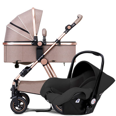 Aluminium frame baby stroller EU standard high landscape baby car 2 in 1 baby strollers brand baby carriage все цены