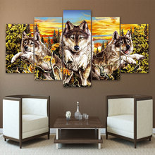 5pcs diy Diamond Painting Cross Stitch Wolves full square Mosaic beaded Embroidery Rhinestones H343