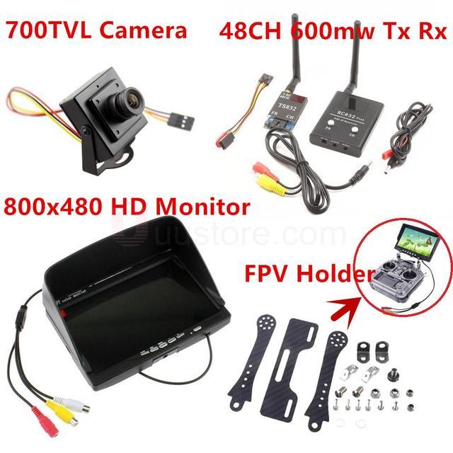 Беспроводной Аудио Видео Система 5.8 ГГц 48Ch FPV 600 МВт Передатчик Приемник 800x480 Монитор 800TVL Камеры Дистанционного Управления игрушки