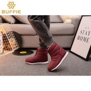 Image 3 - Chaud femmes bottes de neige léger chaussures à fermeture éclair facile à porter antidérapant semelles en caoutchouc maison thermique botte confortable imperméable