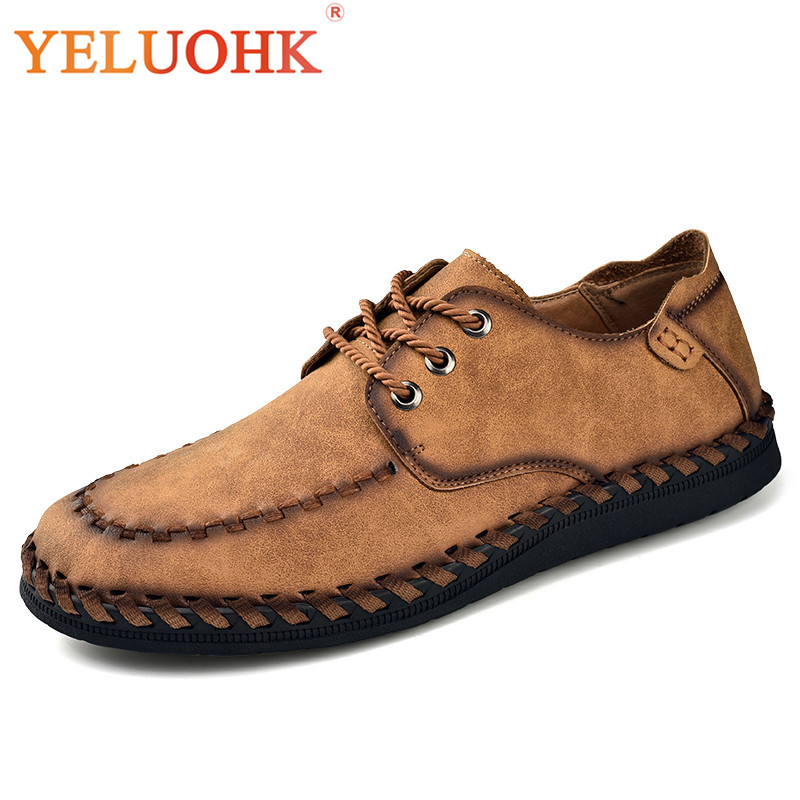 Handmade Men Leather Shoes Comfortable 2018 Spring Men Shoes Casual Lace Up Leather Shoes Men 2017 simple common projects breathable lace up handmade leather shoes casual leather shoes party shoes men winter shoes