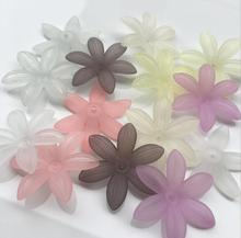 450pcs 30*34mm Acrylic Leaf Petal Beads With Hole For  Sewing Hair Peice Tiaras Jewelry Scrapbooking Craft DIY