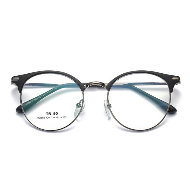 b1b6e196ffd Vazrobe Round Glasses Women Men Vintage Eyeglasses Frames Spectacles for Man  Female Prescription Eyeglass Semi Rimless