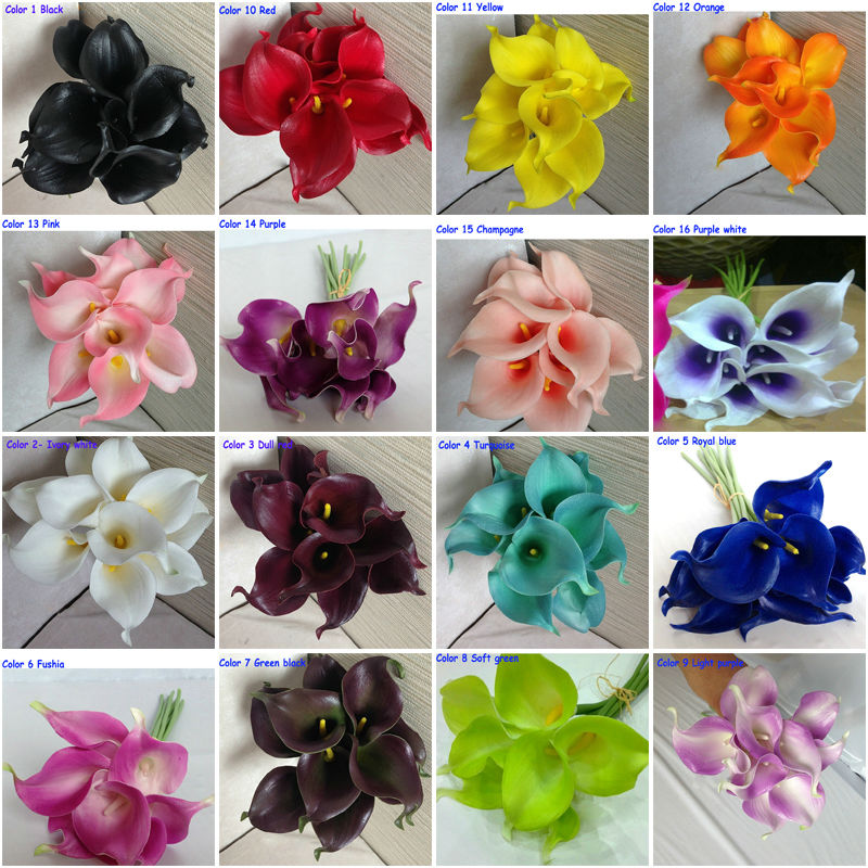 Fast Ems Artificial Pu Calla Lily Flower For Wedding Centerpieces