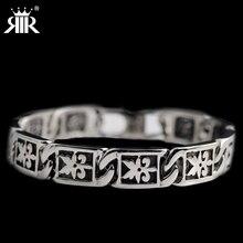 RIR New design Stainless Steel retro Men's individuality bracelet Ghost bangle Biker Rock/Punk Jewelry Motorcycle chain bracelet