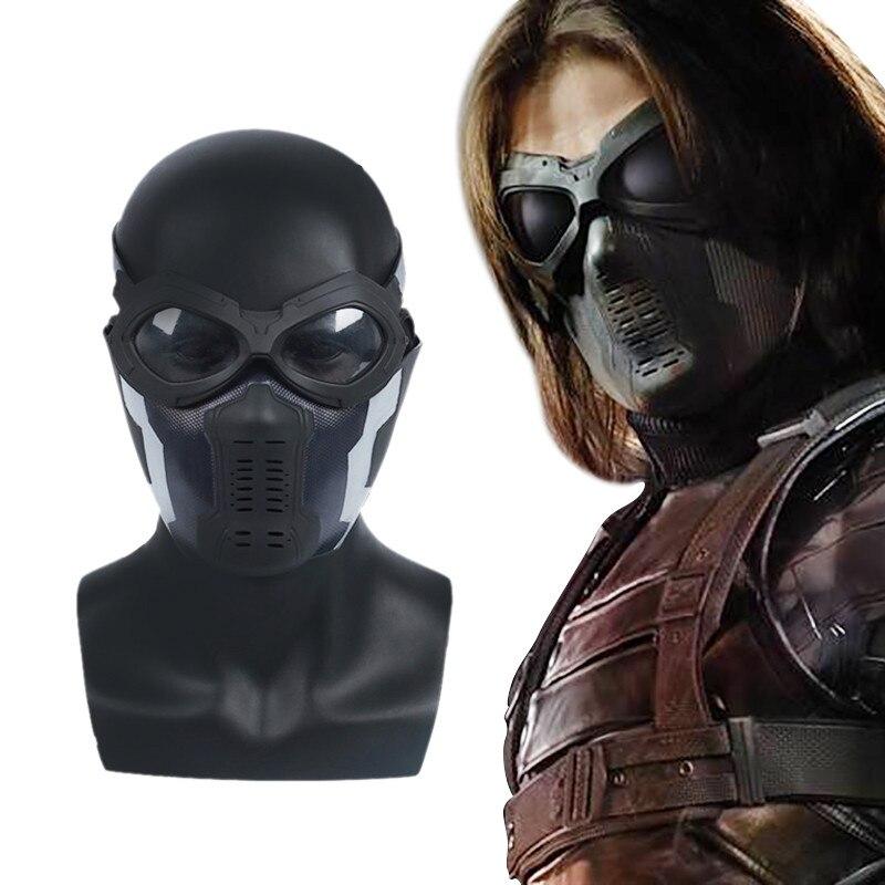 Captain America Winter Soldier Bucky Barnes Cosplay Masks Eyeglasses Goggles Half Face The Avengers 3 Superhero