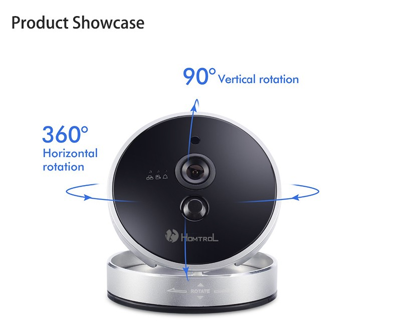 Homtrol Baby Monitor with Temperature & Humidity Sensor Network Cube WiFi IP Camera HT-SC800 22