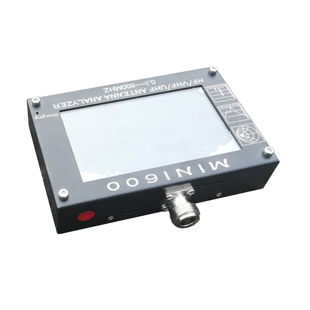 MINI600 HF/VHF/UHF Aerial Analyzer 5V/1.5A 0.1-600MHZ with 4.3 LCD Touch Screen 3 Measurement Modes Mini Aerial AnalyzerMINI600 HF/VHF/UHF Aerial Analyzer 5V/1.5A 0.1-600MHZ with 4.3 LCD Touch Screen 3 Measurement Modes Mini Aerial Analyzer
