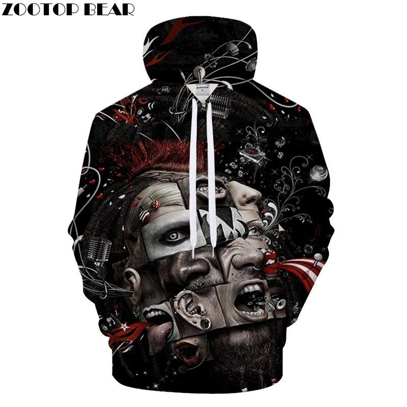 terrorist Printed 3D Hoodies Men Women Sweatshirt Brand Metal band Pullover Hip Hop Tracksuit Rock Hoody 6XL Quality Hoodie