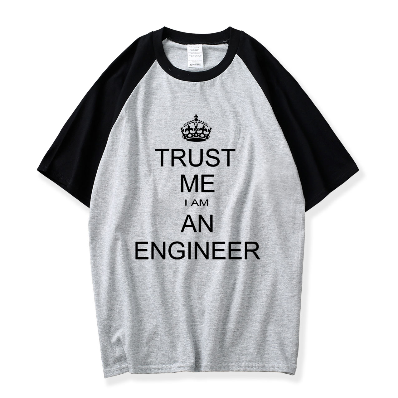 Wholesale Tshirt Plain Men Summer Raglan T Shirt I Am An Keep Calm Trust Me Humor Engineer Letter Cotton Short Sleeve Shirts Top