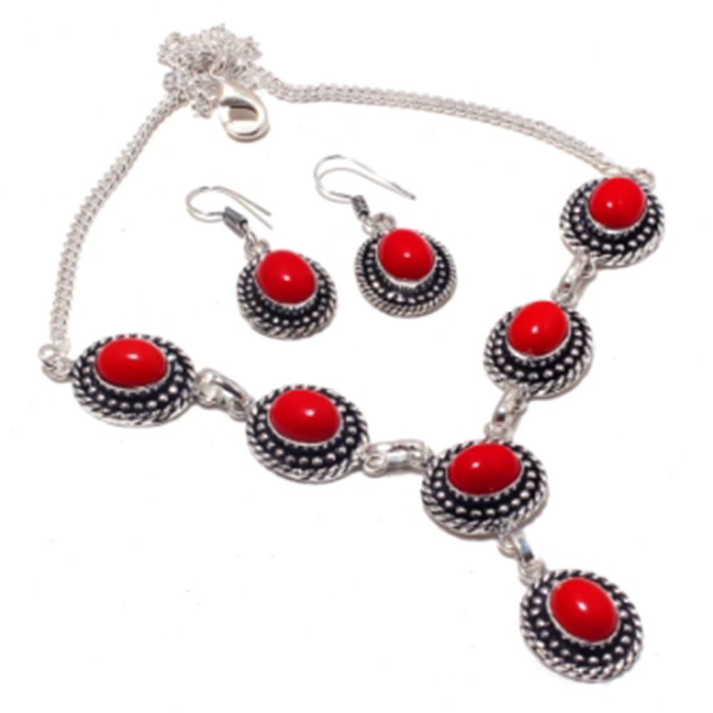 Коралловое ожерелье с серебряным наполнителем из меди, 45 см, FRN0032 Ожерелья с подвеской      АлиЭкспресс
