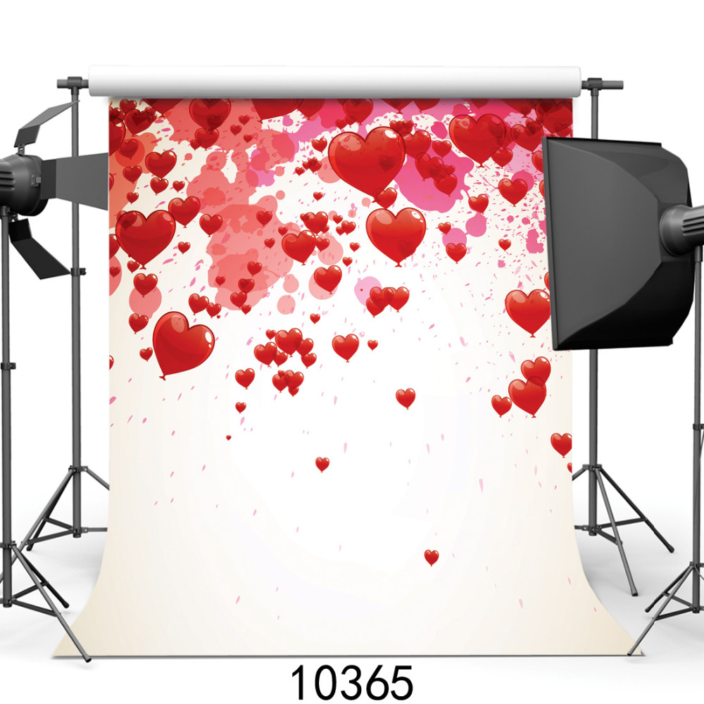 Heart White Vinyl Photography Backgrounds for Photo Studio Computer Printed Photo Backdrop for Photocall for Baby Wedding shanny autumn backdrop vinyl photography backdrop prop custom studio backgrounds njy33