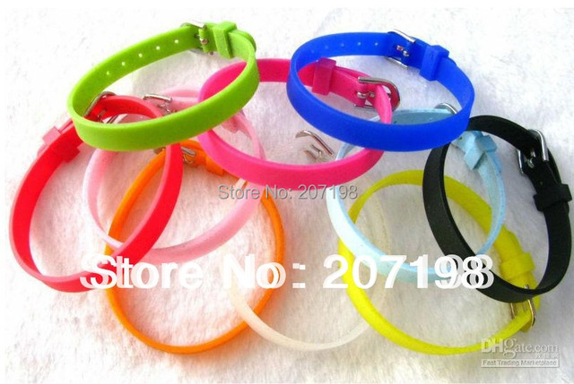 100 Pieces Lot 8mm Width Kids Diy Silicone Bracelet One Direction Wristband Fit